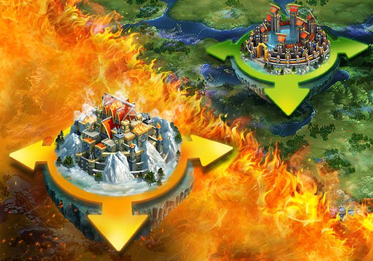 Vikings War of Clans Königreiche-Schlacht