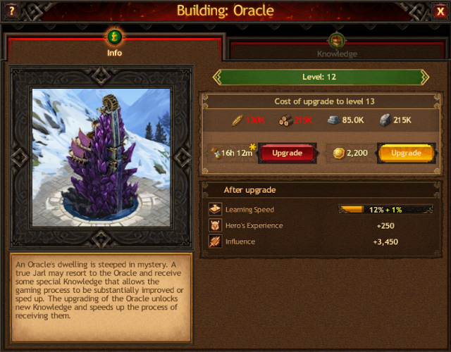 Vikings: War of Clan Knowledge guide - Orcale