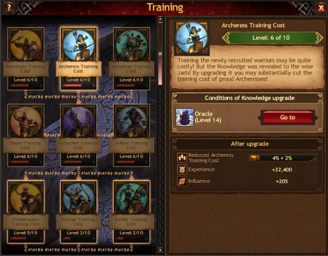 Vikings: War of Clan Knowledge guide - Training